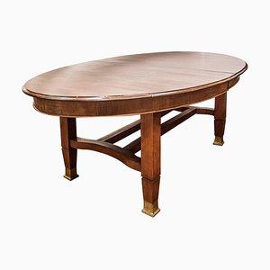 Table de Salle à Manger Ovale Vintage Style Arts & Crafts en Acajou