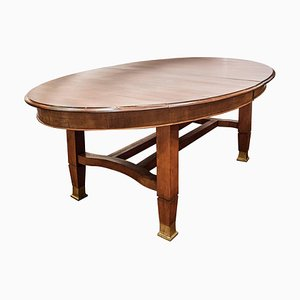 Tavolo da pranzo ovale vintage in stile Arts & Crafts in mogano