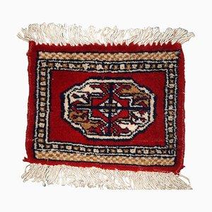 Vintage Middle Eastern Ersari Mat, 1970s