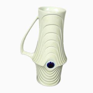 Jarrón o jarra Op Art de porcelana biscuit de KPM, años 60