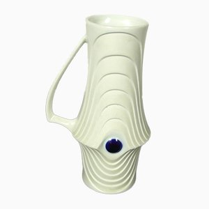 Vase ou Pichet Op Art en Biscuit de Porcelaine de KPM, 1960s