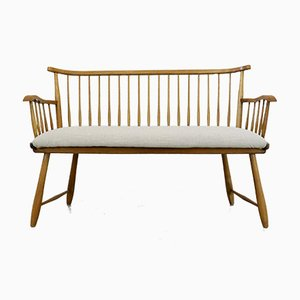 Vintage Wooden Bench by Arno Lambrecht for WK Möbel, 1953