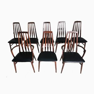 Eva Rosewood Chairs by Niels Koefoed for Koefoeds Hornslet, Set of 8
