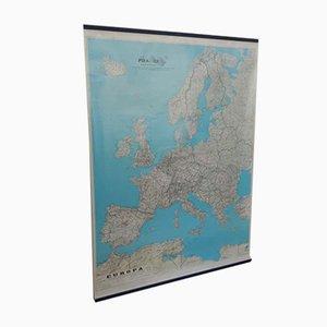 Mappa dell'Europa di Litografia Cartografica Firenze, anni '60