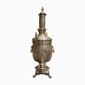 19th-Century Silver Plated Russian School Samovar