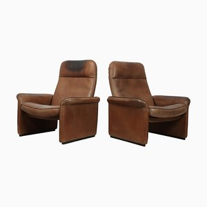 DS50 Leather Lounge Chairs from de Sede, 1960s, Set of 2