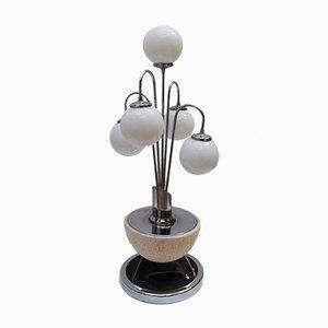 Lámpara de mesa en cascada era espacial Mid-Century, años 70