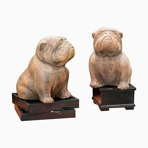 Italian Stone Bulldogs, 1970s, Set of 2