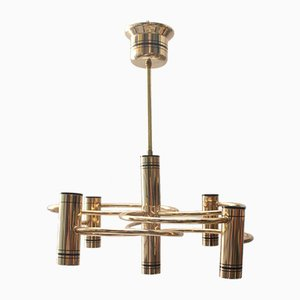 Vintage 5-Light Pendant Lamp by Gaetano Sciolari, 1970s