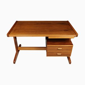 Vintage Walnut Desk, 1960s