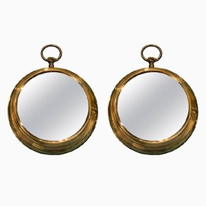 Mid-Century Bronze Watch Mirrors, Set of 2