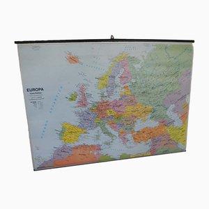 Mappa dell'Europa di Belletti Misano Adriatica Rimini, anni '70