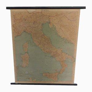 Italian Political Map from Istituto Geografico De Agostini, 1960s