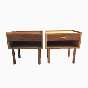 Oak Bedside Tables by Hans Jørgen Wegner for Ry Møbler, 1960s, Set of 2