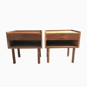Tables de Chevet en Chêne par Hans Jørgen Wegner pour Ry Møbler, 1960s, Set de 2