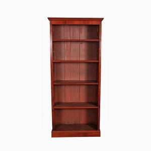 Librería alta antigua de caoba