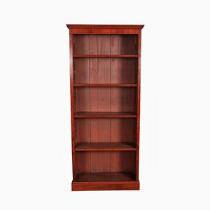 Tall Antique Mahogany Open Bookcase