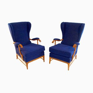 Vintage Armchairs by Paolo Buffa for Frama, 1950s, Set of 2