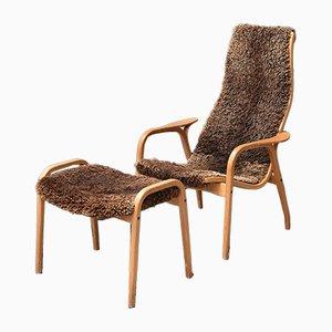 Chaise & Ottomane Lamino par Yngve Ekström pour Swedese, 1960s
