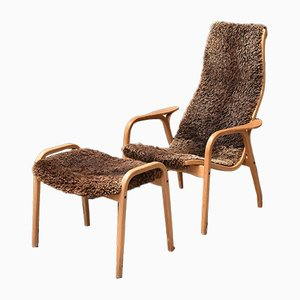 Lamino Chair & Ottoman by Yngve Ekström for Swedese, 1960s