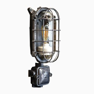 Industrial Bunker Wall Lamp from EOW, 1950s