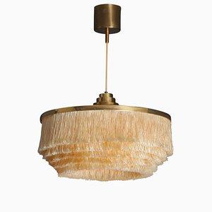 Lámpara colgante T-603 sueca vintage de latón de Hans-Agne Jakobsson para AB Trensums