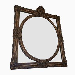 Miroir Victorien Antique Doré