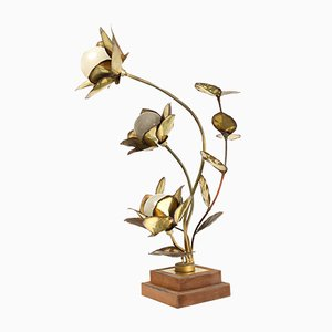 Lámpara Lotus de Maison Jansen, años 70