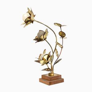 Lotus Lampe von Maison Jansen, 1970er