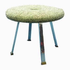 Metal & Brass Industrial Stool, 1950s