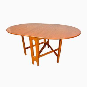 Mesa plegable # D116 plegable vintage de teca, años 70