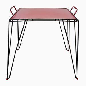 Vintage Red Formica Side Table