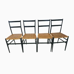 Vintage Superleggera Chairs by Gio Ponti for Cassina, Set of 4