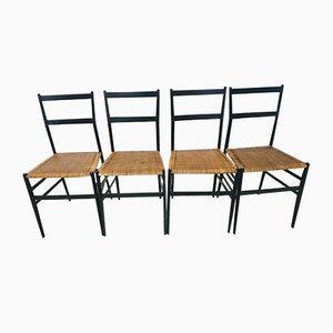 Vintage Superleggera Stühle von Gio Ponti für Cassina, 4er Set