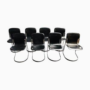 Chaises de Salon Vintage par Willy Rizzo pour Cidue, 1970s, Set de 8