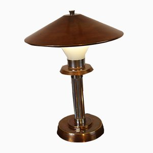Art Deco Copper Alloy Ministerial Lamp, 1940s