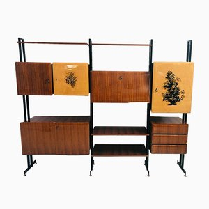 Scandinavian Wooden Wall Unit, 1960s