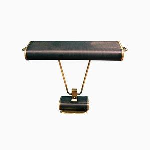 Art Deco Black & Gold Office Table Lamp, 1940s