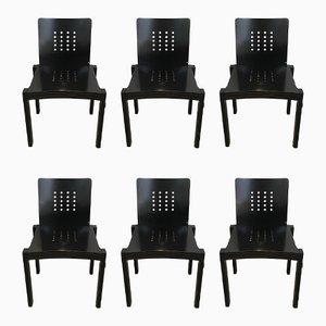 Schwarze Holzstühle von Thonet, 1993, 6er Set
