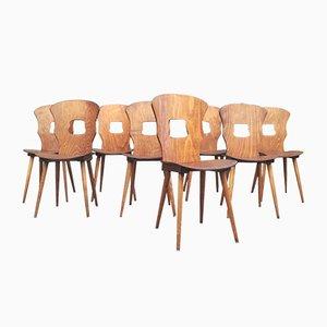 Vintage Gentian Bistro Chairs from Baumann, 1960s, Set of 8