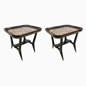 Rosewood & Marble Tables by Giuseppe Scapinelli, 1960s, Set of 2