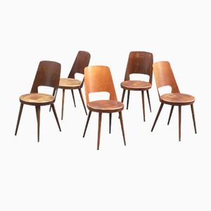 Vintage Bistro Chairs from Baumann, 1960s, Set of 5