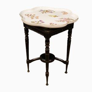 Tavolino in quercia e ceramica dipinta, Regno Unito, anni '60
