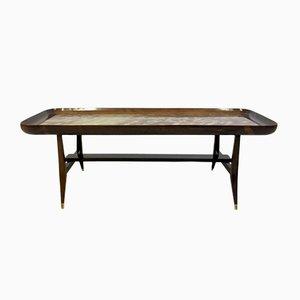 Mesa de centro de palisandro y mármol de Giuseppe Scapinelli, años 60