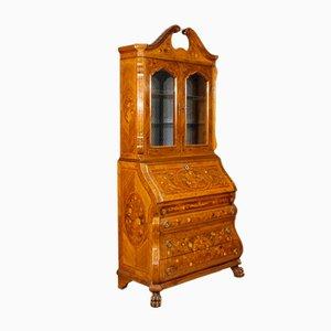 Niederländischer Vintage Trumeau mit Intarsie aus Holz