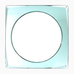 Espejo italiano Mid-Century con marco azul, años 70
