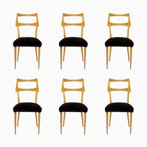 Chaises de Salon Mid-Century par Ico & Luisa Parisi, Italie, Set de 6