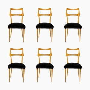 Mid-Century Italian Dining Chairs by Ico & Luisa Parisi, Set of 6