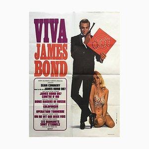 Affiche Viva James Bond par Yves Thos, 1970s