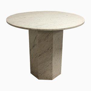 Tavolo da pranzo vintage in marmo di Carrara, Italia